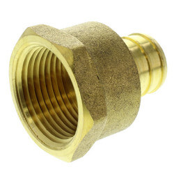 "3/4"" PEX x 3/4"" NPT Brass F Adapter (Lead Free) Product Image"