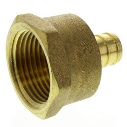 "1/2"" PEX x 3/4"" NPT Brass Female Adapter<br>(Lead Free) Product Image"