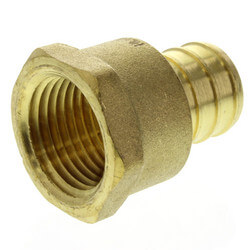 "3/4"" PEX x 1/2"" NPT Brass Female Adapter<br>(Lead Free) Product Image"