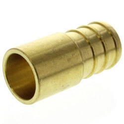 "5/8"" PEX x 1/2"" Copper Fitting Brass Adapter"