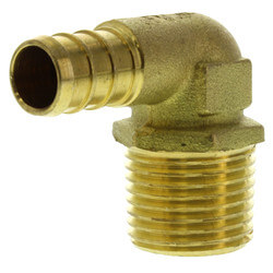 """1/2"""" PEX x 1/2"""" Male Threaded Brass Elbow (Lead Free) Product Image"""