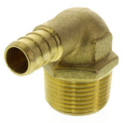 """1/2"""" PEX x 3/4"""" Male Threaded Brass Elbow (Lead Free) Product Image"""