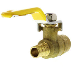 "1/2"" PEX x 1/2"" Sweat Ball Valve w/ T-Handle (Lead Free) Product Image"