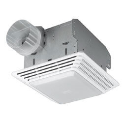 "HD50L Heavy Duty Vent Fan w/ Light, 4"" Round Duct, 50 CFM Product Image"