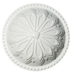 """5-1/2"""" Hermosa Dome Cleanout Cover (Paint Grade White) Product Image"""