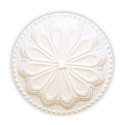 """6"""" Hermosa Flat Cleanout Cover (Paint Grade White) Product Image"""