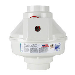 "HP Series Inline Radon Fan, 4""/5"" Duct (157 CFM) Product Image"