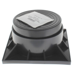 "3"" Two Piece Black Heat Pump Riser Product Image"
