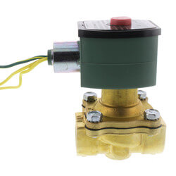 "3/4"" Normally Open High Temp Solenoid Valve (120V) Product Image"
