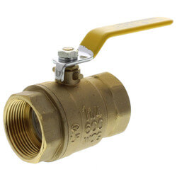 "1-1/4"" Full Port Threaded Ball Valve, Lead Free"