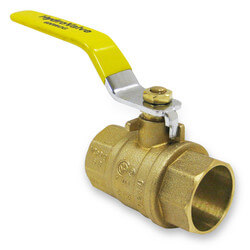 "1-1/2"" Full Port Sweat Ball Valve, Lead Free"