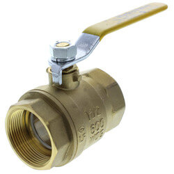"1-1/2"" Full Port Threaded Ball Valve, Lead Free"