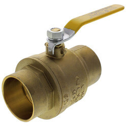 "2"" Full Port Sweat Ball Valve, Lead Free"
