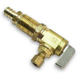"Ice Maker Valve, 1/2"" PEX x 1/4"" OD Compression"