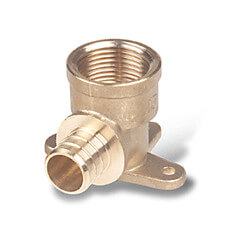 "3/4"" PEX x 3/4"" NPT Brass Drop Ear Elbow"