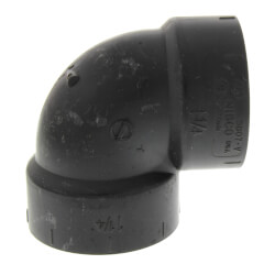 "1-1/2"" Hub ABS DWV 90° Elbow Product Image"