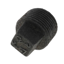 "3/4"" Black Solid Plug"