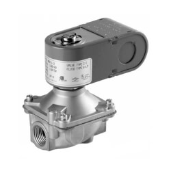 "3/8"" Threaded 2-Way NC Low Pressure Direct Acting Gas Shutoff Valve (24V) Product Image"