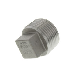 """T304 1"""" Stainless Steel Square Head Plug Product Image"""