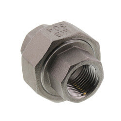 """T304 3/8"""" Stainless Steel Union Product Image"""