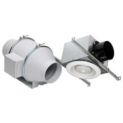 """TD-MIXVENT Lighted Exhaust Kit w/ Fluorescent Bulb, 4"""" Duct (120V) Product Image"""