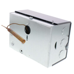 High Limit Horizontal Mount Triple Aquastat Relay, High = 10°F Diff, Low Limit = 10-25° Adj Differential