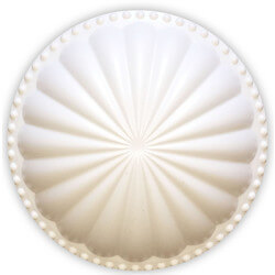 """5-1/2"""" Laguna Dome Cleanout Cover (Paint Grade White) Product Image"""
