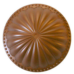 """5-1/2"""" Laguna Dome Cleanout Cover (Newport Copper) Product Image"""