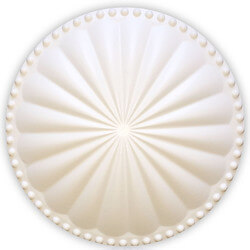 """6"""" Laguna Flat Cleanout Cover (Paint Grade White) Product Image"""