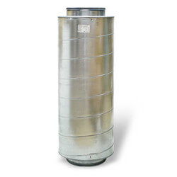 "Galvanized Steel Silencer for 10"" Duct"