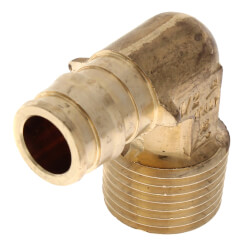 "1/2"" ProPEX x 1/2"" MIP Lead Free Brass Elbow"