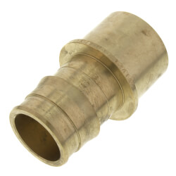 "1-1/2"" ProPEX x 1-1/2"" Copper Fitting Adapter (Lead Free Brass)"