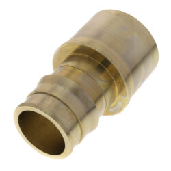 "1-1/2"" ProPEX Copper Pipe Adapter (Lead Free Brass) Product Image"