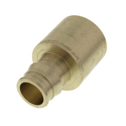 "3/4"" ProPEX x 1"" Copper Pipe Adapter (Lead Free Brass) Product Image"