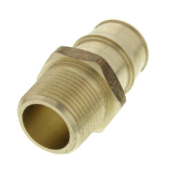 "1"" ProPEX x 1"" NPT Lead Free Brass Male Adapter"