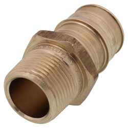 """1"""" ProPEX x 3/4"""" NPT Lead Free Brass Male Adapter Product Image"""