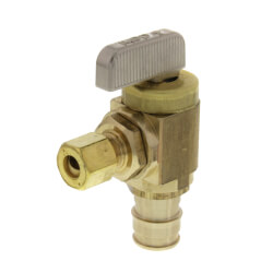 "1/2"" x 1/4"" ProPEX Brass Ice Maker Box Valve (Angle) Product Image"