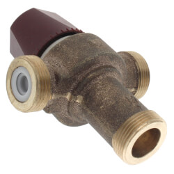 "1/2"" NPT Female HydroGuard Thermostatic Tempering Vlv (90°- 160°F) Product Image"