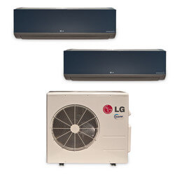 2 Zone Heat-Cool Multi-Split Art Cool Package - (2) LMAN097HVT & (1) LMU187HV - 18,000 BTU