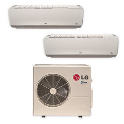 2 Zone Heat-Cool Multi-Split Standard Package - (2)LMN097HVT & (1)LMU187HV - 18,000 BTU