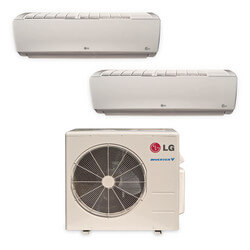 2 Zone Heat-Cool Multi-Split Standard Package - (2)LMN186HVT & (1)LMU369HV - 34,000 BTU