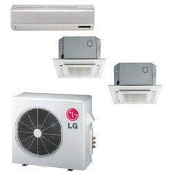 3 Zone Cool-Heat Multi-Split Package - 24,000 BTU