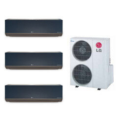 3 Zone Heat-Cool Multi-Split Art Cool Package - (3) LMAN097HVT & (1) LMU369HV - 27,000 BTU