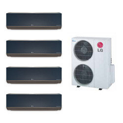 4 Zone Heat-Cool Multi-Split Art Cool Package - (4) LMAN097HVT & (1) LMU369HV - 34,000 BTU