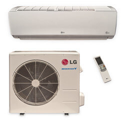 9,000 BTU Ductless Single Zone Air Conditioner/Inverter Heat Pump Package
