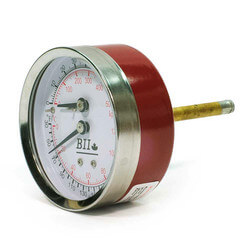 "1/4"" NPT, 2.5"" Face, Temperature & Pressure Gauge (Tridicator)"