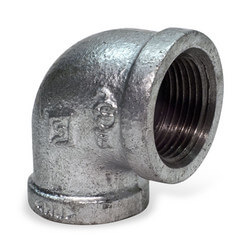 "1"" x 3/4"" Galv 90° Elbow Product Image"