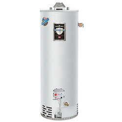 40 Gallon - 40,000 BTU Defender Safety System Atmospheric Vent Energy Saver Residential Water Heater, w/ Optional Top T&P Location (Nat Gas)