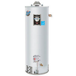 40 Gallon - 40,000 BTU Defender Safety System Energy Star High EF Residential Water Heater (Nat Gas) - T&P Valve On Top