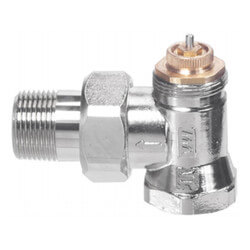 """3/4"""" Threaded x Male Union Vertical Angle Valve w/ Straight Nipple (9000184) Product Image"""